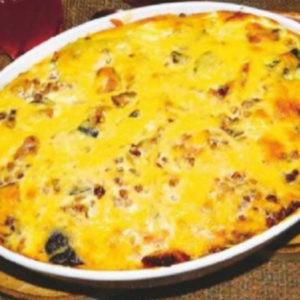 Рецепт. Гречневая запеканка с мясом и грибами