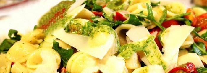 Орекьетте с цветными овощами и соусом Маскарпоне