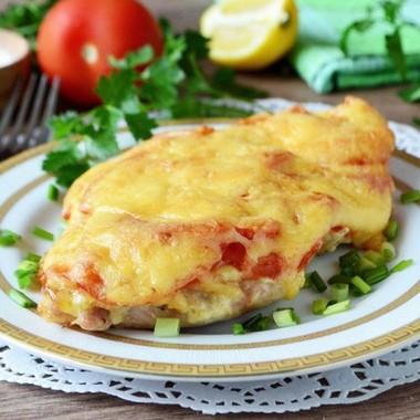 Рецепт приготовления отбивных в духовке с помидорами и сыром