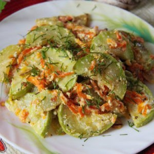 Рецепт кабачков по-венгерски за пол часа