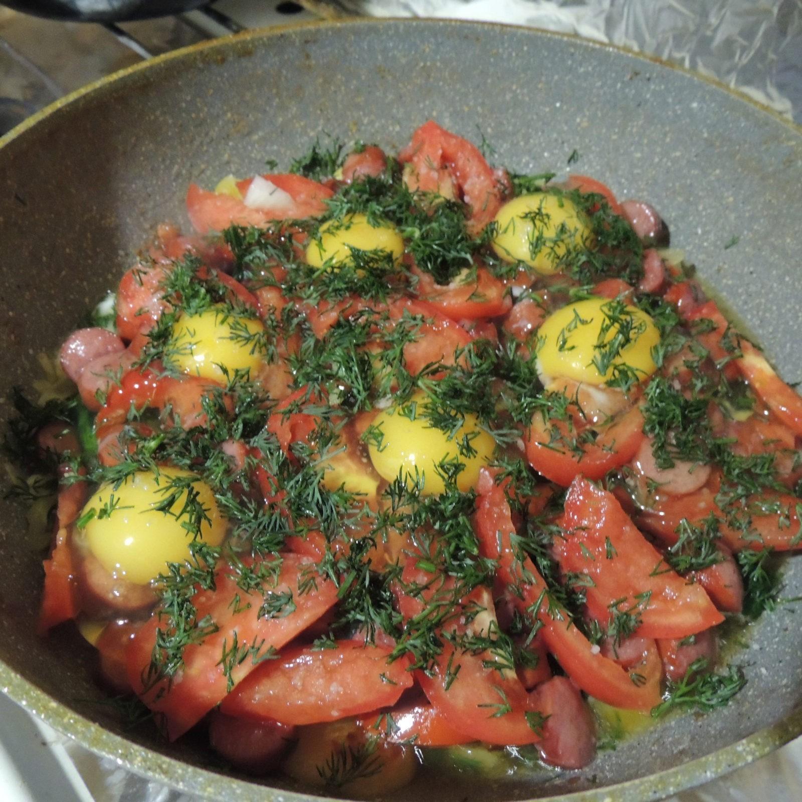 Пошаговый рецепт картофеля со шпинатом и охотничьими сосисками - 8