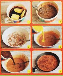 Пошаговый-рецепт-шоколодных-блинов