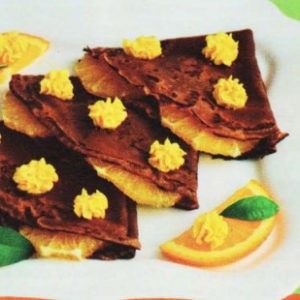 Блины шоколадные с апельсиновым маслом