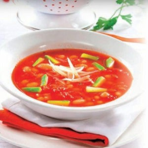 Рецепт томатного супа с белой фасолью