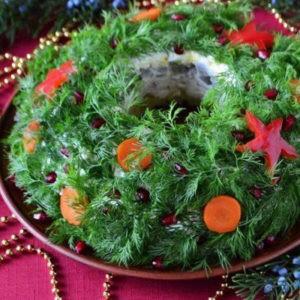 Recept salata «Novogodnij venok»