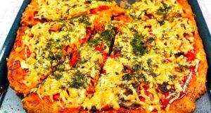 Пицца с колбасой по домашнему в духовке